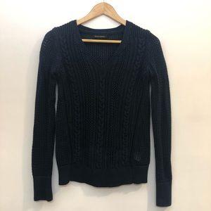 Banana Republic Cable Knit V-Neck Sweater